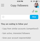 Crowdfire App Copy Followers